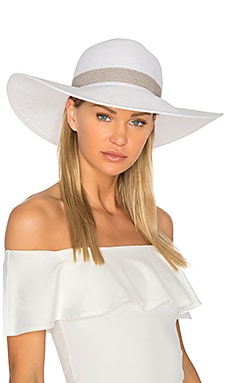 Sunday Funday Beach Hat in White