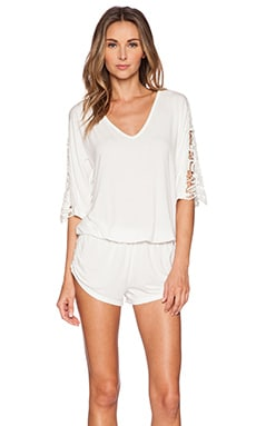 L*SPACE Mali Romper in Ivory