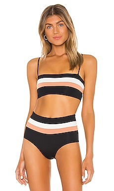 Rebel Stripe Bikini Top L*SPACE $88 BEST SELLER