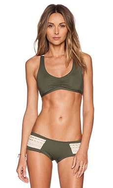 L*SPACE Wild Child Bikini Top in Fern