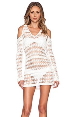 L*SPACE Windswept Beach Sweater in Ivory