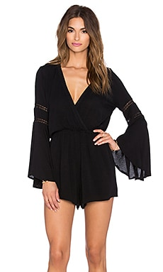 L*SPACE Lovestruck Romper in Black