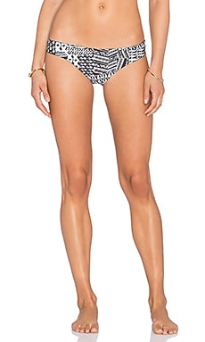 L*SPACE Barracuda Ivory Coast Reversible Bikini Bottom in Black