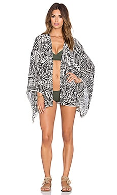 L*SPACE Ivory Coast Kimono in Black