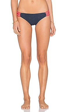 L*SPACE Low Down Bikini Bottom in Antique Denim