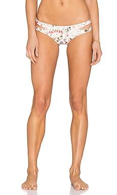 L*SPACE Estella Liberty Love Reversible Bikini Bottom in Cream