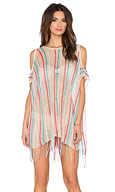 L*SPACE Nightfall Beach Poncho in Natural