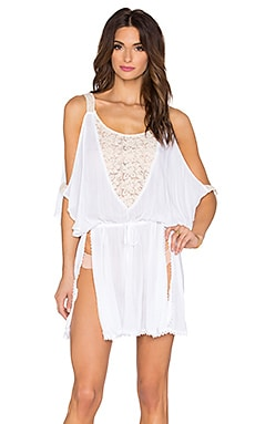 L*SPACE Riptide Caftan in White