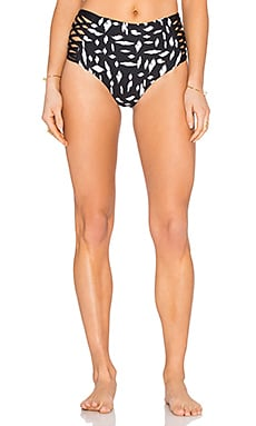 Tigress Reversible Bikini Bottom in Black