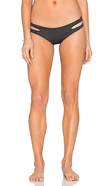 L*SPACE Estella Reversible Bikini Bottom in Charcoal