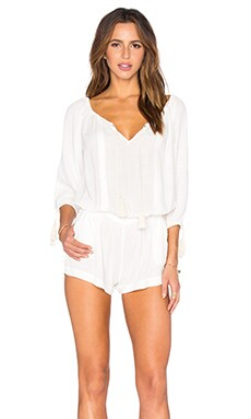 L*SPACE Ocean City Romper in Ivory