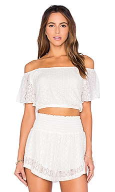 L*SPACE Summer Of Love Crop Top in Cream