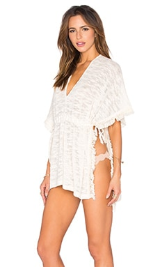 L*SPACE Washed Ashore Poncho in Natural