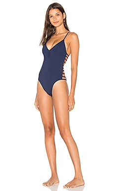 Wild Side One Piece in Midnight Blue