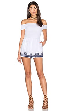 L*SPACE Nanette Romper in White