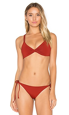 Hartley Bikini Top in Redwood