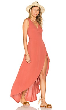 Twilight Wrap Dress in Sahara