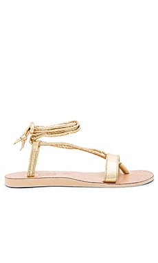 by Cocobelle Rio Sandals in Gold