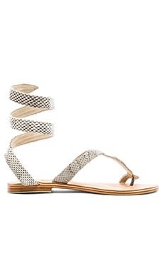 by Cocobelle Snake Wrap Sandal in Natural