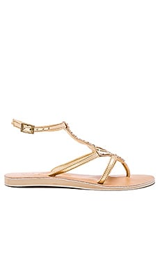L*SPACE Arrow Sandals in Gold