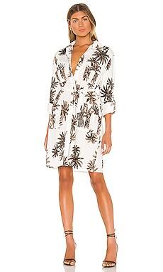 Cannabis Palm Shirt Dress Le Superbe $243