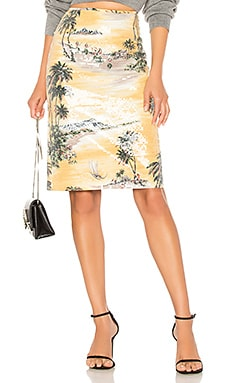 Hawaiian Shine Pencil Skirt Le Superbe $355