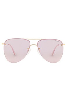 The Prince Sunglasses in Gold & Blush