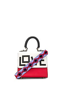 Micro Alex Black Widow Bag in Red, White, & Sky Blue