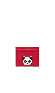 Panda Cardholder in Red Saffiano