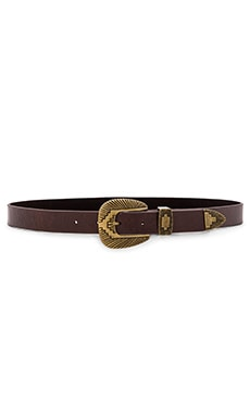 Lovestrength Whaley Hip Belt in Brown & Antique Brass