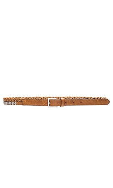Lovestrength Metallic Braided Belt in Brown & Silver