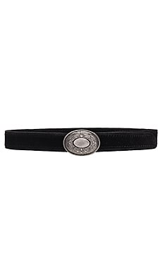 Rosetta Hip Belt in Black & Light Antiqued Nickel