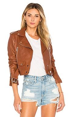 Mya Cropped Biker Jacket LTH JKT $595