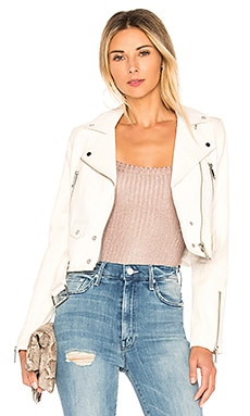 Mya Cropped Biker Jacket