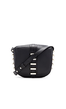 Luana Italy Sedgwick Small Saddle Bag in Ebony
