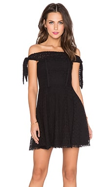 Lucca Couture Off The Shoulder Dress in Black