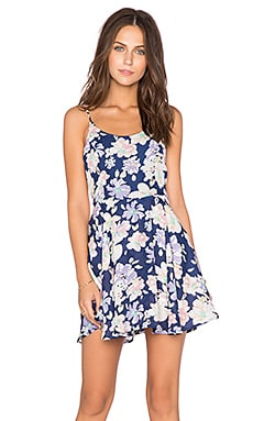 Lucca Couture Floral Tank Dress in Navy Sketch