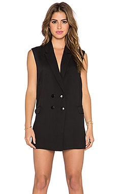 Lucca Couture Blazer Mini Dress in Black