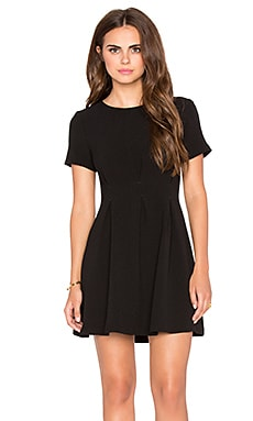 Lucca Couture Short Sleeve Mini Dress in Black