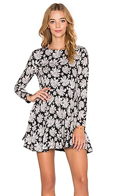 Lucca Couture Long Sleeve Dress in Black Floral