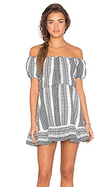 Off Shoulder Flounce Hem Dress