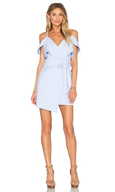 x REVOLVE Wrap Dress in Baby Blue