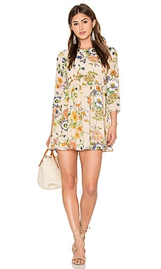 Lucca Couture Madeline Mini Dress in Bisque Floral