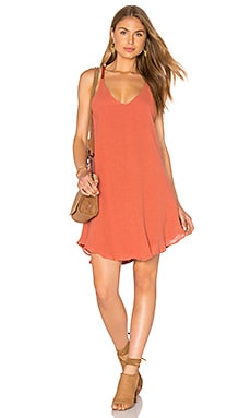 Round Hem Tank Dress in Clay