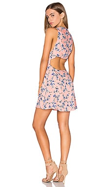 Lucca Couture Button Front Mini Dress in Tearose Floral