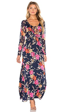 Nova Dress en Night & Persimmon Wash Floral