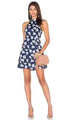 Lucca Couture Adalynn Mini Dress in Navy Floral