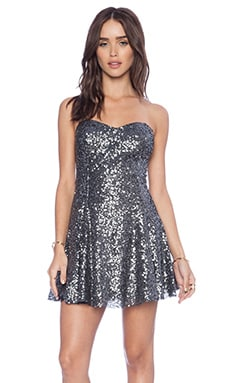 Lucca Couture Sequin Party Dress in Gunmetal