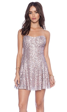 Lucca Couture Sequin Party Dress in Pink Multi