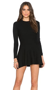 Lucca Couture Long Sleeve Shift Dress in Black